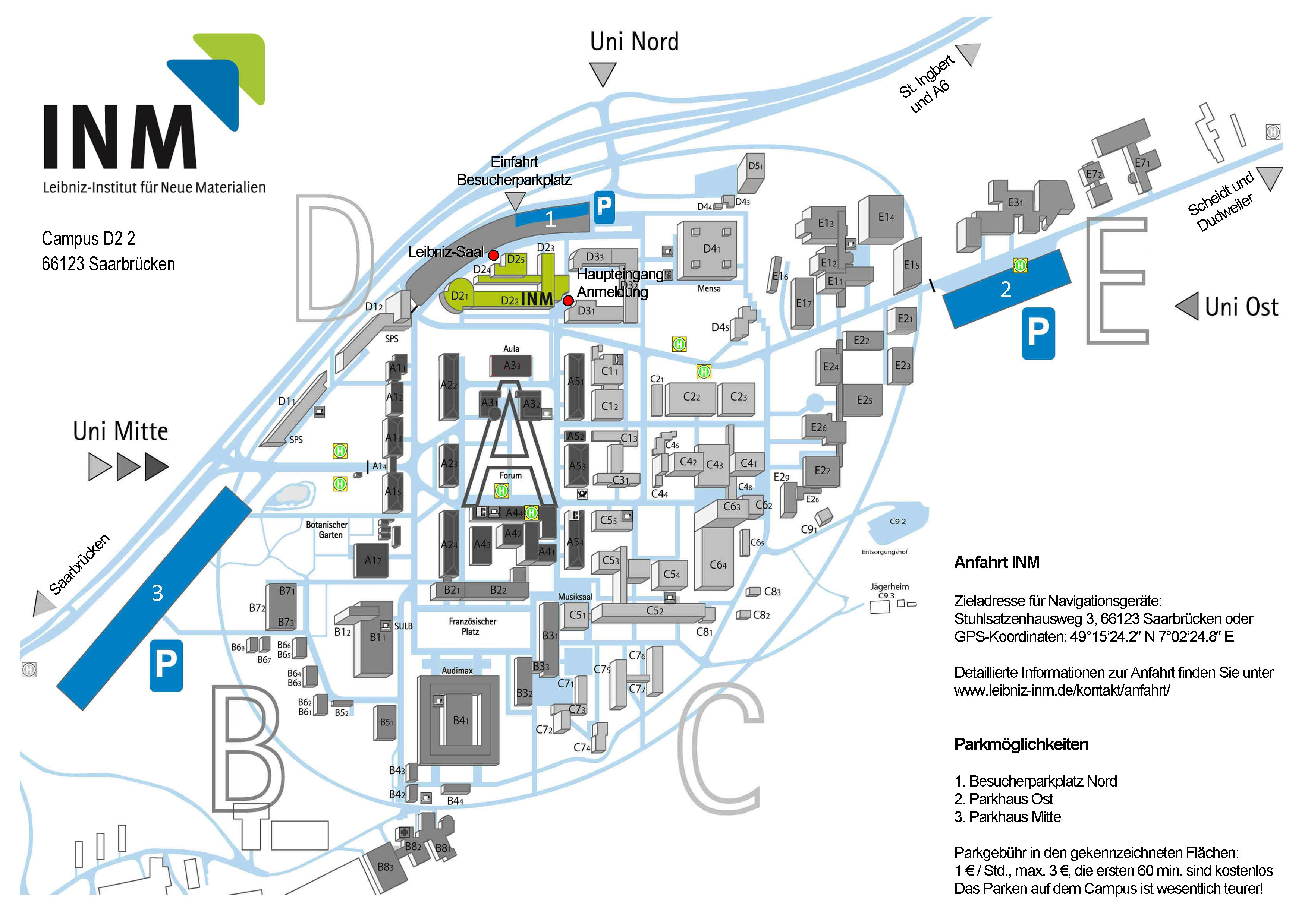 Kontakt Inm Leibniz Institut Für Neue Materialien
