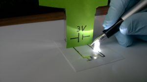 Hannover Messe: Conductive metal-polymer inks for inkjet printing: flexible electronics without sintering 4