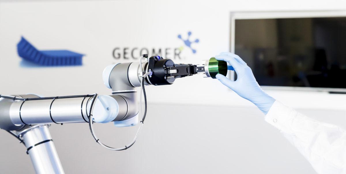 """Hannover Messe: """"Weicher Cobot"""" - Erstmals Implementierung der Gecomer®-Technologie in einem kollaborativen Roboter"""